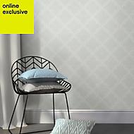 Wallpops Quatrefoil Grey Peel & stick wallpaper (L)5500mm (W)520mm