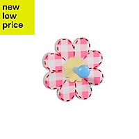 Pink & light blue Flower hook (H)15mm (W)126mm (L)126mm