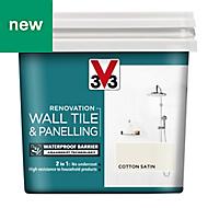 V33 Renovation Cotton Satin Wall tile & panelling paint 0.75L