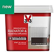 V33 Renovation Cast iron Metallic Radiator & appliance paint 750ml