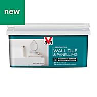 V33 Renovation Soft grey Satin Wall tile & panelling paint 2L