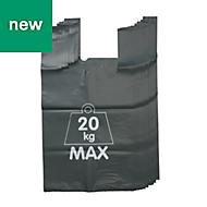 Verve Green Recycled high density polyethylene Garden refuse sack 150L, Pack of 5
