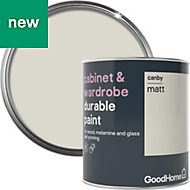 GoodHome Durable Canby Matt Cabinet & wardrobe paint 750ml