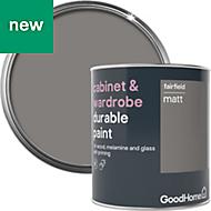 GoodHome Durable Fairfield Matt Cabinet & wardrobe paint 750ml