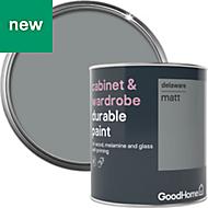 GoodHome Durable Delaware Matt Cabinet & wardrobe paint 750ml