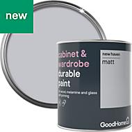 GoodHome Durable New haven Matt Cabinet & wardrobe paint 750ml