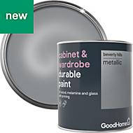 GoodHome Durable Beverly hills Metallic Cabinet & wardrobe paint 750ml