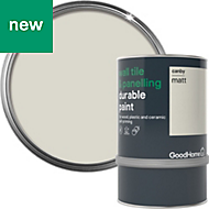 GoodHome Durable Canby Matt Wall tile & panelling paint 0.75L