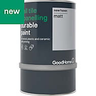 GoodHome Durable New haven Matt Wall tile & panelling paint 0.75L