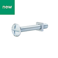 M5 Roofing bolt & square nut (L) 40mm, Pack of 10