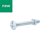 M5 Roofing bolt & square nut (L) 50mm, Pack of 10