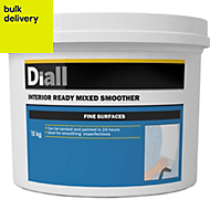 Diall Fine finish Ready mixed Smoothover finishing plaster 15kg