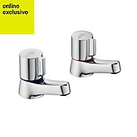 Ideal Standard Alto Hot & cold basin pillar tap
