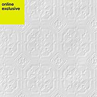 Anaglypta Original White Derby Paintable Wallpaper