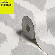 Graham & Brown Kelly Hoppen Soft grey & white Geometric Wallpaper