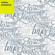 Graham & Brown Marcel wanders Blue & white Text Wallpaper