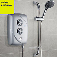 Triton T80 Easi-Fit Satin Satin effect Electric shower, 9.5 kW