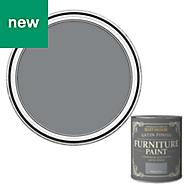 Rust-Oleum Mineral grey Satin Furniture paint 750ml