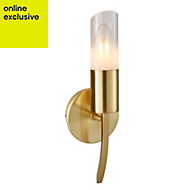 Nico Brushed gold effect Wall light