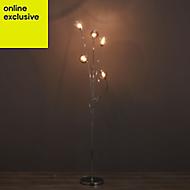 Lilie Chrome effect Floor lamp