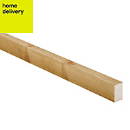 Treated sawn timber (T)25mm (W)38mm (L)2400mm Pack of 16