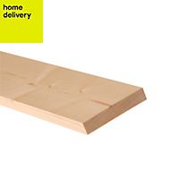 Smooth planed timber (T)18mm (W)119mm (L)2400mm Pack of 8