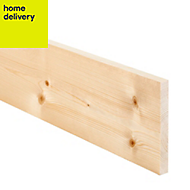 Smooth planed timber (T)18mm (W)144mm (L)2400mm Pack of 8