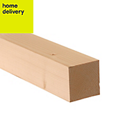 Smooth planed timber (T)44mm (W)44mm (L)2400mm Pack of 8