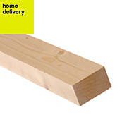 Smooth planed timber (T)44mm (W)70mm (L)2400mm Pack of 6