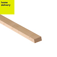 Smooth planed timber (T)18mm (W)44mm (L)1800mm Pack of 18