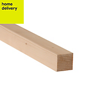 Smooth planed timber (T)34mm (W)34mm (L)1800mm Pack of 12