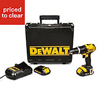 DeWalt XR Cordless 18V 1.5Ah Li-ion Combi drill 2 batteries DCD785C2SF-GB