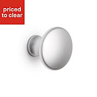 B&Q Matt Chrome effect Round Bedroom Knob Cabinet handle (W)30 mm