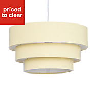 Colours Kase Yellow Plain Lampshade (D)400mm