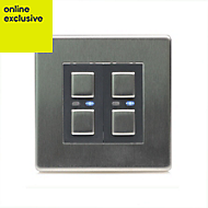 LightwaveRF Double Stainless steel Dimmer switch