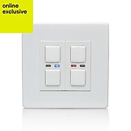 LightwaveRF Double White Dimmer switch