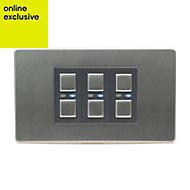 LightwaveRF Triple Stainless steel Dimmer switch