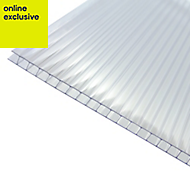 Clear Polycarbonate Twinwall Roofing Sheet 4m x 690mm