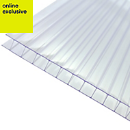 Clear Polycarbonate Twinwall Roofing Sheet 5m x 690mm