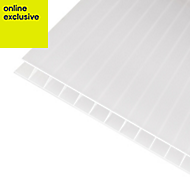 Opal effect Polycarbonate Twinwall Roofing Sheet 3m x 690mm