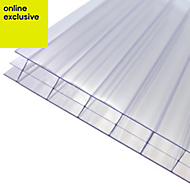 Clear Polycarbonate Multiwall Roofing Sheet 5m x 690mm