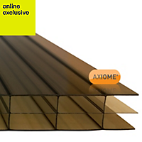 Bronze effect Polycarbonate Multiwall Roofing Sheet 2m x 690mm