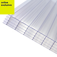 Clear Polycarbonate Multiwall Roofing Sheet 2m x 690mm