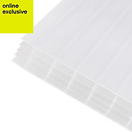 Opal effect Polycarbonate Multiwall Roofing Sheet 2m x 690mm