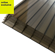 Bronze effect Polycarbonate Multiwall Roofing Sheet 4m x 690mm