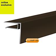 Alukap Brown Axiome sheet endstop, (H)50mm (W)40mm (L)3000mm