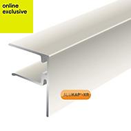 Alukap White Axiome sheet endstop, (H)50mm (W)40mm (L)3000mm