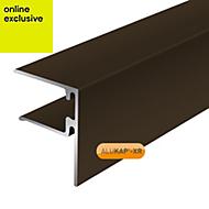 Alukap Brown Axiome sheet endstop, (H)50mm (W)40mm (L)4800mm
