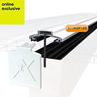 Alukap White Axiome sheet glazing bar, (H)20mm (W)60mm (L)3000mm