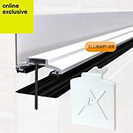 Alukap White Axiome sheet glazing bar, (H)70mm (W)60mm (L)3000mm